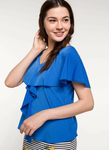 DeFacto Kolsuz Bluz Mavi